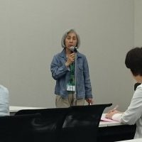 JNNC共同代表の柚木康子さん